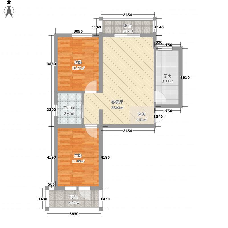 新野上郡84.00㎡新野上郡户型图A户型2室2厅1卫1厨户型2室2厅1卫1厨