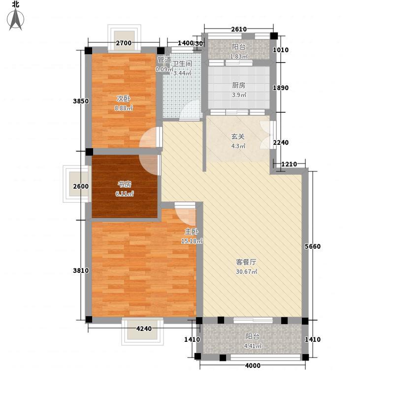 东方百合园108.00㎡东方百合园户型图温馨阳光居3室2厅1卫1厨户型3室2厅1卫1厨