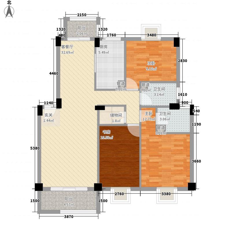 嘉和盛世名门户型图G 3室2厅2卫