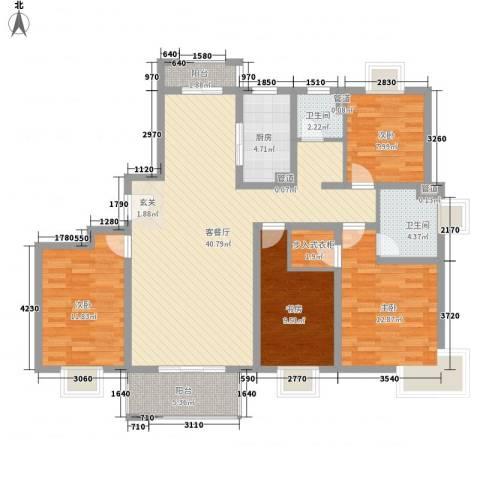 粮贸大厦4室1厅2卫1厨150.00㎡户型图