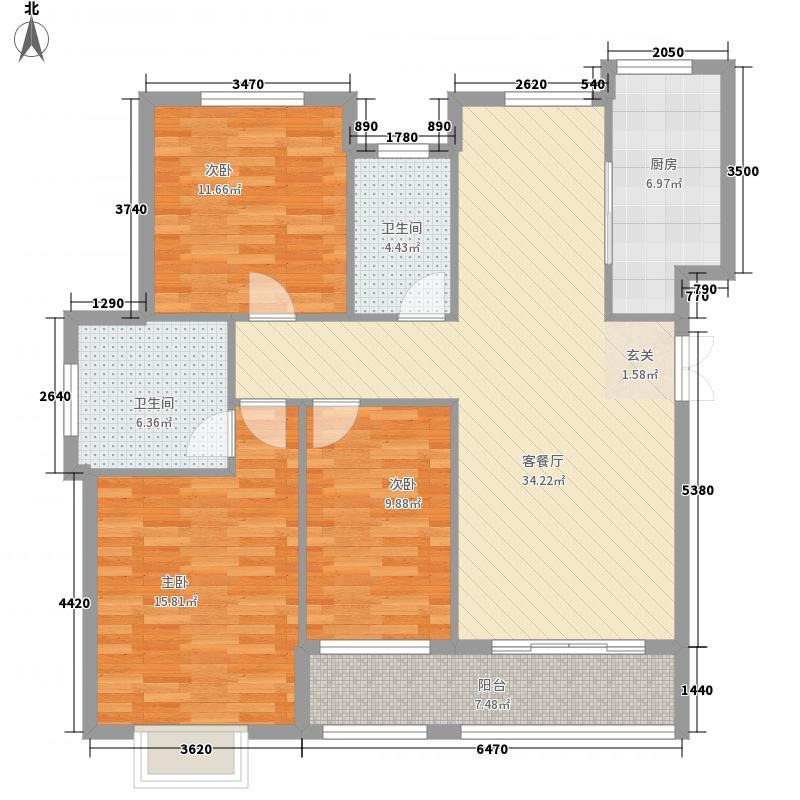 天同宜江南135.53㎡HY-2户型3室2厅2卫1厨