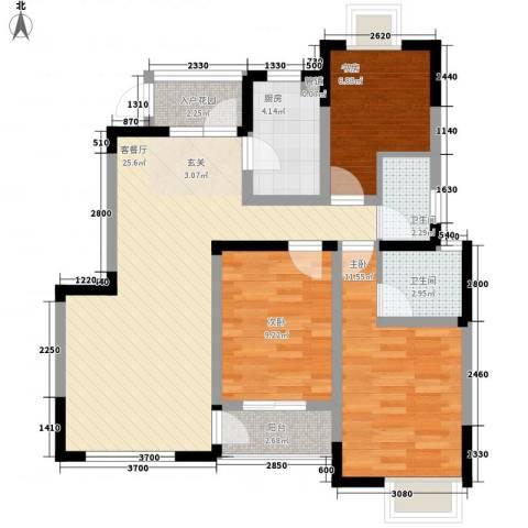 新丰苑3室1厅2卫1厨100.00㎡户型图