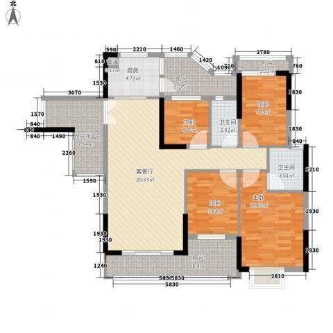 威斯广场4室1厅2卫1厨139.00㎡户型图