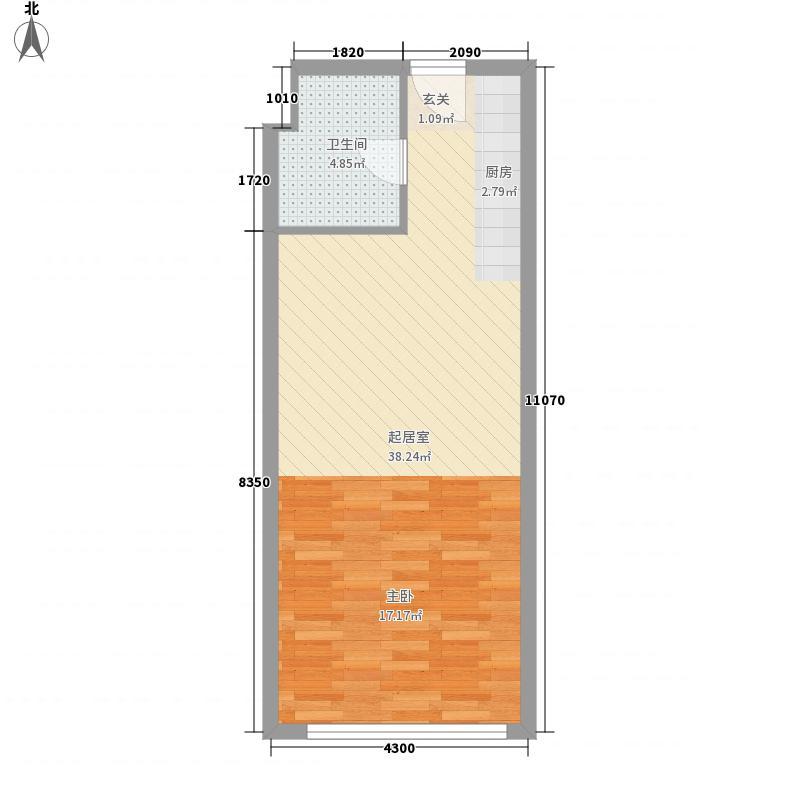 英泰第一城48.00㎡英泰第一城1室户型1室