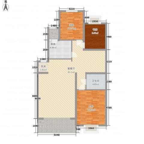 恒富安花园3室1厅1卫1厨119.00㎡户型图