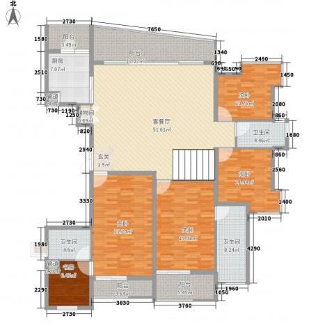金地荔湖城5室1厅3卫1厨240.00㎡户型图