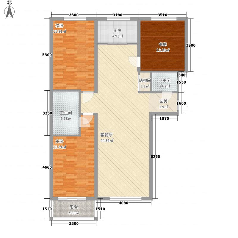 吉美家园139.70㎡吉美家园户型图3号楼A2户型3室2厅2卫1厨户型3室2厅2卫1厨