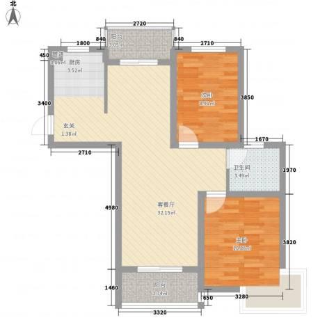 枫情佳苑2室1厅1卫0厨89.00㎡户型图