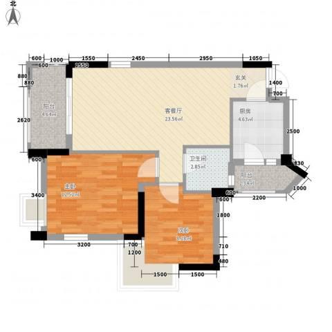 金凤豪苑2室1厅1卫1厨81.00㎡户型图