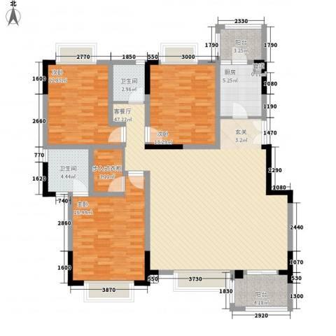 美好家园别墅3室1厅2卫1厨143.00㎡户型图