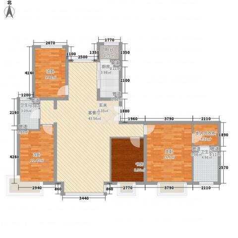 厦航高郡4室1厅2卫1厨153.00㎡户型图