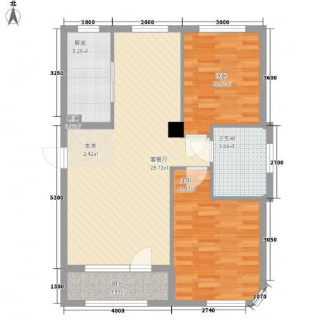 一品佳地(瓦房店)2室1厅1卫1厨95.00㎡户型图