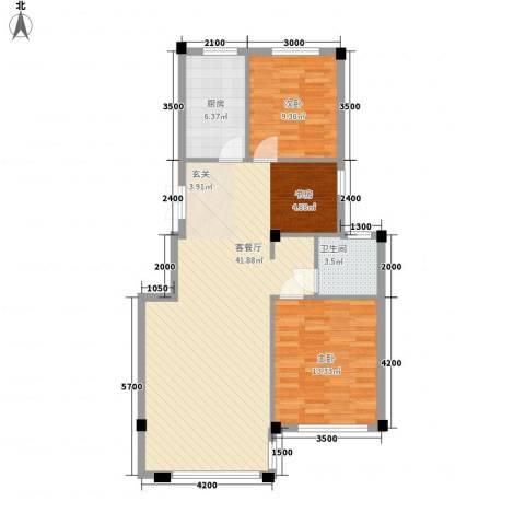 一品佳地(瓦房店)2室1厅1卫1厨103.00㎡户型图