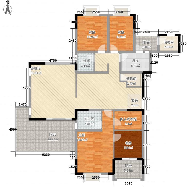 美好家园别墅164.80㎡G1型户型5室2厅3卫1厨