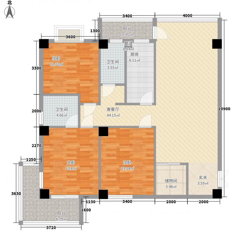 博大新城ABC-A户型3室2厅2卫1厨