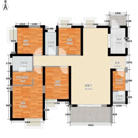 南昌华南城4室1厅3卫1厨143.00㎡户型图
