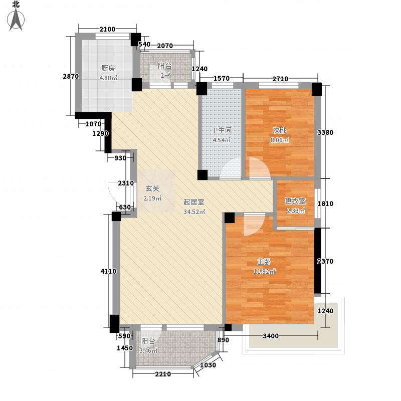 海上郡88.12㎡海上郡户型图28号楼A户型2室2厅1卫1厨户型2室2厅1卫1厨
