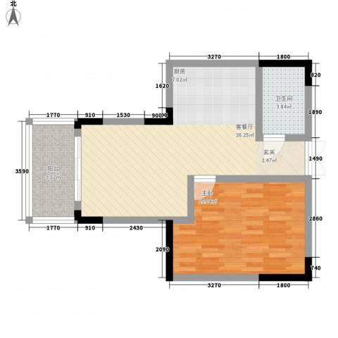 宇润人才公寓1室1厅1卫0厨72.00㎡户型图