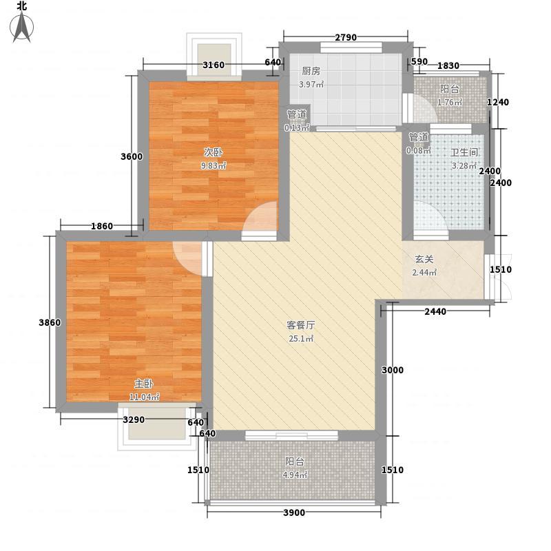 凯旋广场80.00㎡凯旋广场户型图2室2厅1卫户型2室2厅1卫