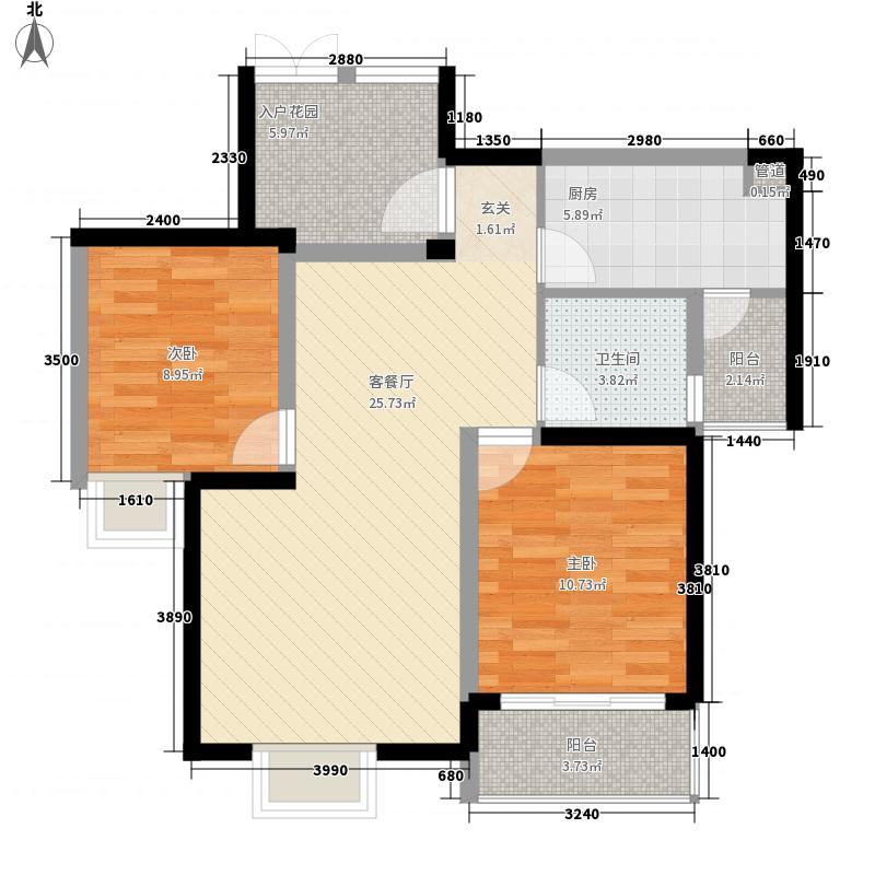 世纪城70.57㎡世纪城户型图V区3#楼4-27层B/C/F/G户型2室2厅1卫1厨户型2室2厅1卫1厨