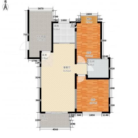 东湖山庄2室1厅1卫1厨200.00㎡户型图