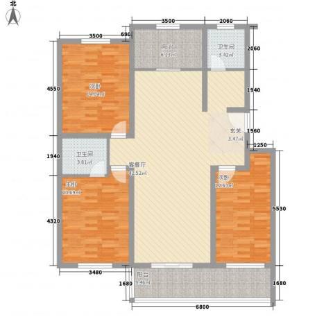 晨阳世纪城3室1厅2卫0厨150.00㎡户型图