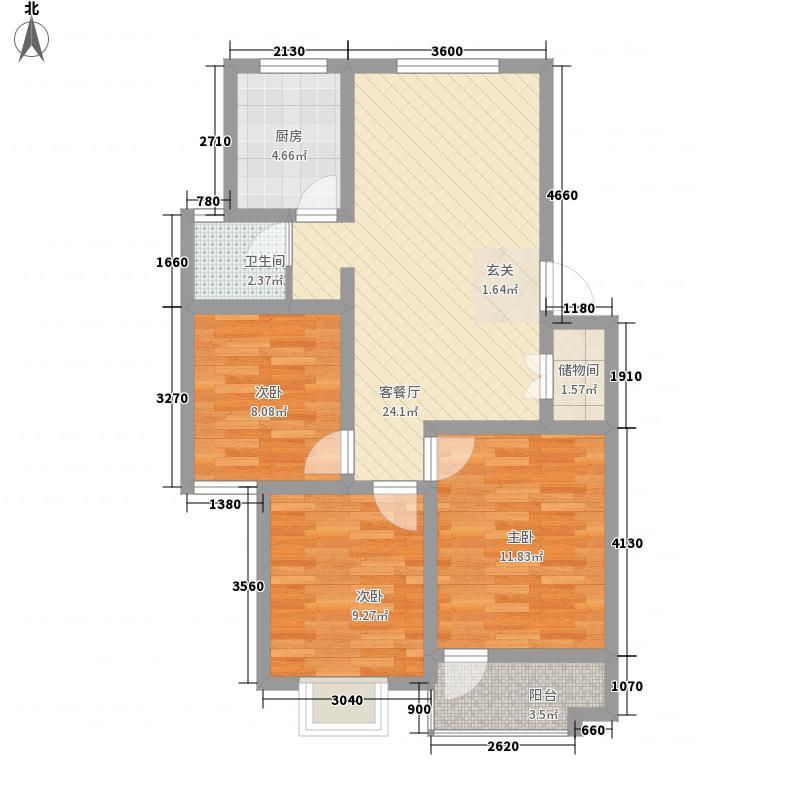 凯旋广场90.00㎡凯旋广场户型图3室2厅1卫户型3室2厅1卫