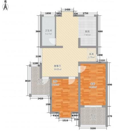 欣欣苑2室1厅1卫0厨112.00㎡户型图