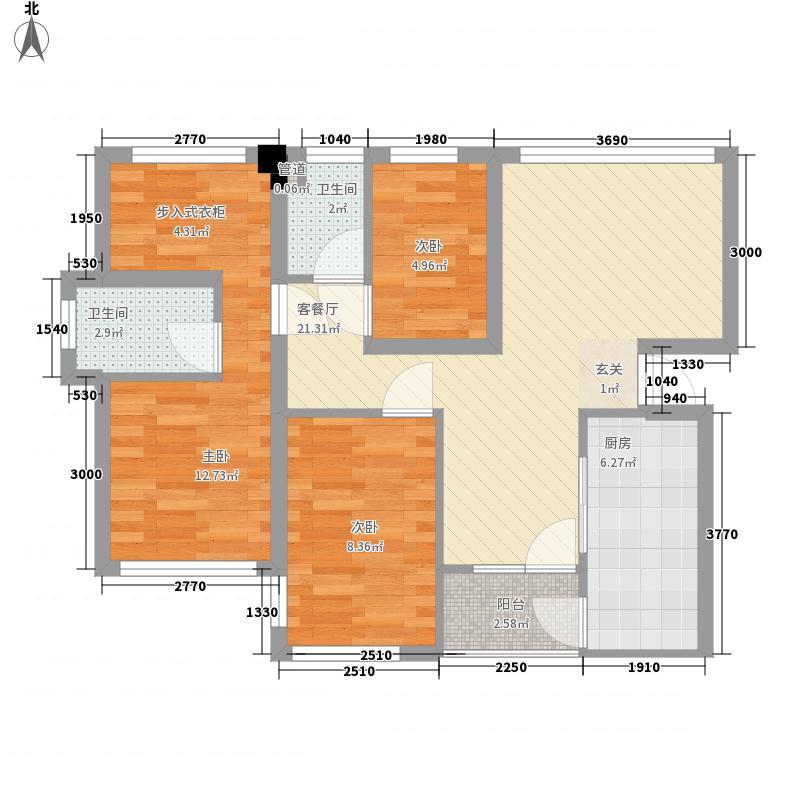 全盛紫云庭89.00㎡全盛紫云庭户型图E座01户型4室2厅2卫1厨户型4室2厅2卫1厨