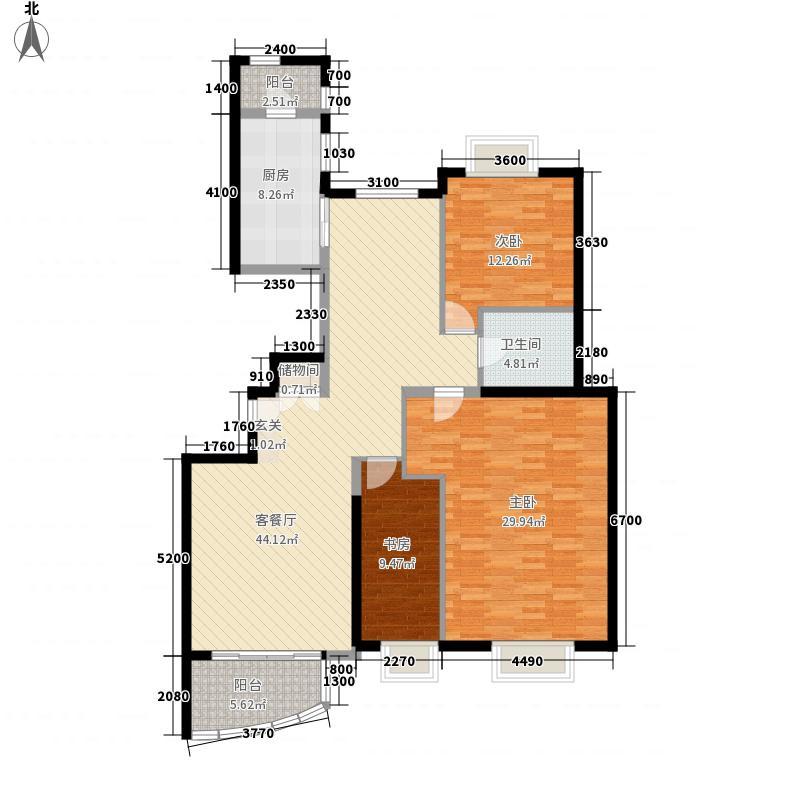 规划局宿舍95.00㎡规划局宿舍3室户型3室