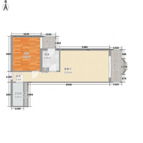 中鑫国际1室1厅1卫1厨71.00㎡户型图