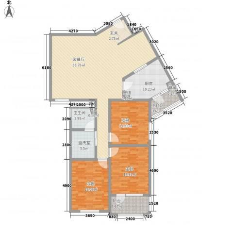 滨河小区3室1厅1卫1厨149.98㎡户型图