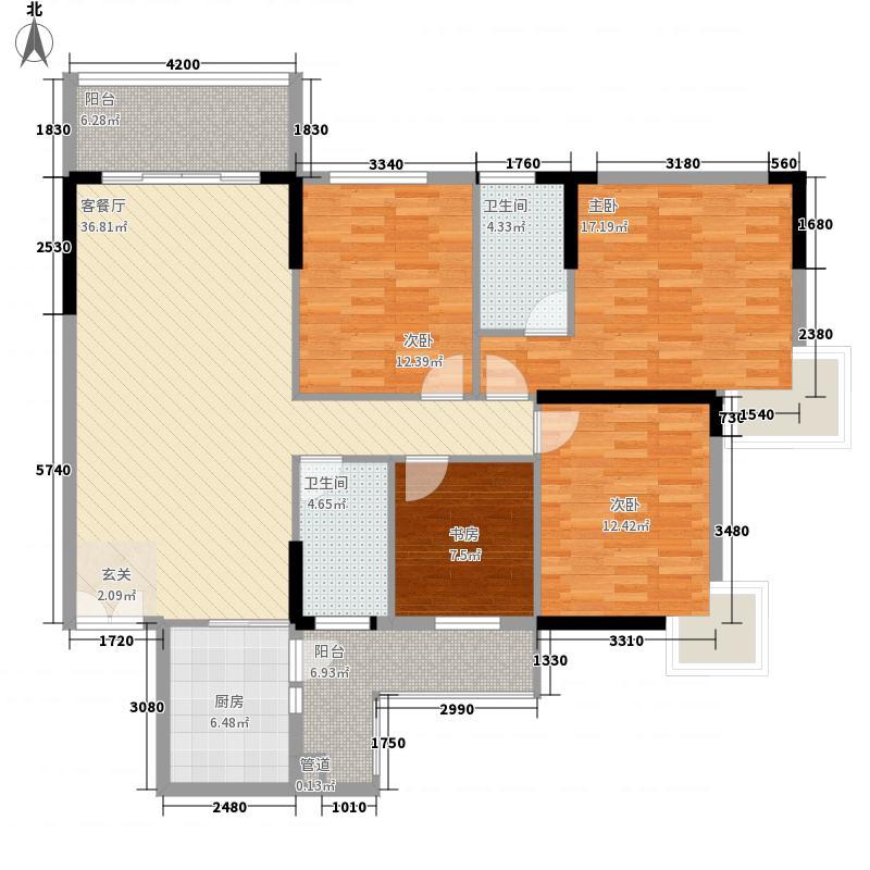 运河佳苑14.74㎡G户型4室2厅2卫1厨
