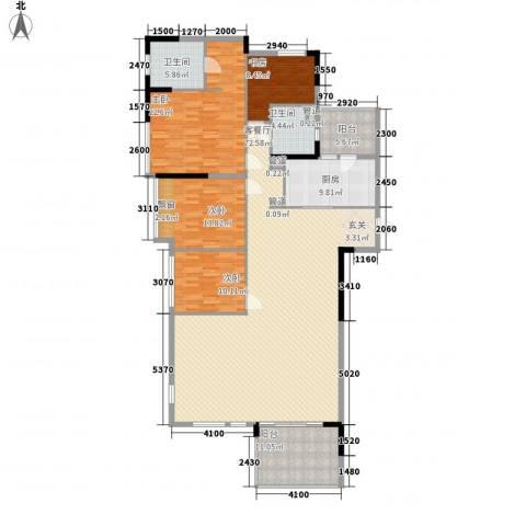 海悦新都会4室1厅2卫1厨164.91㎡户型图