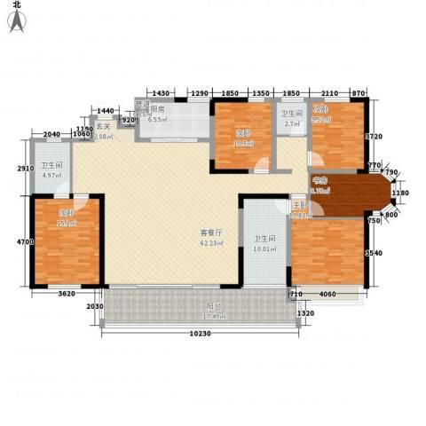 高速云水湾5室1厅3卫1厨228.00㎡户型图