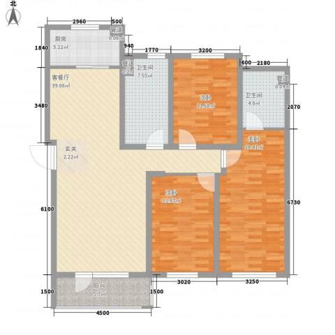 托斯卡纳3室1厅2卫1厨131.00㎡户型图