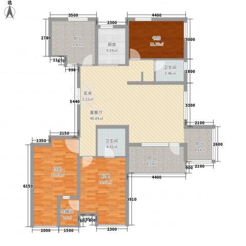 正源吉祥e家2室1厅2卫1厨141.00㎡户型图