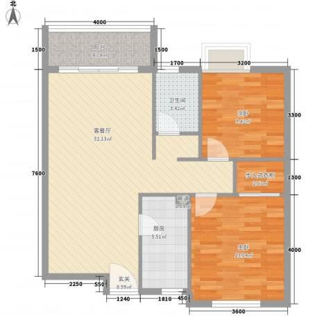 兰蒂斯城2室1厅1卫1厨84.00㎡户型图