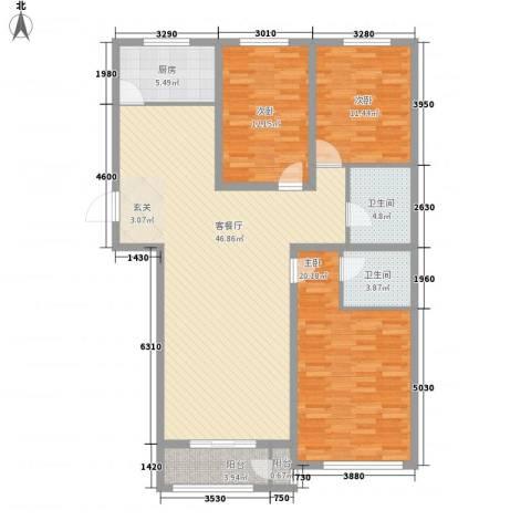 伊利亚特湾3室1厅2卫1厨163.00㎡户型图