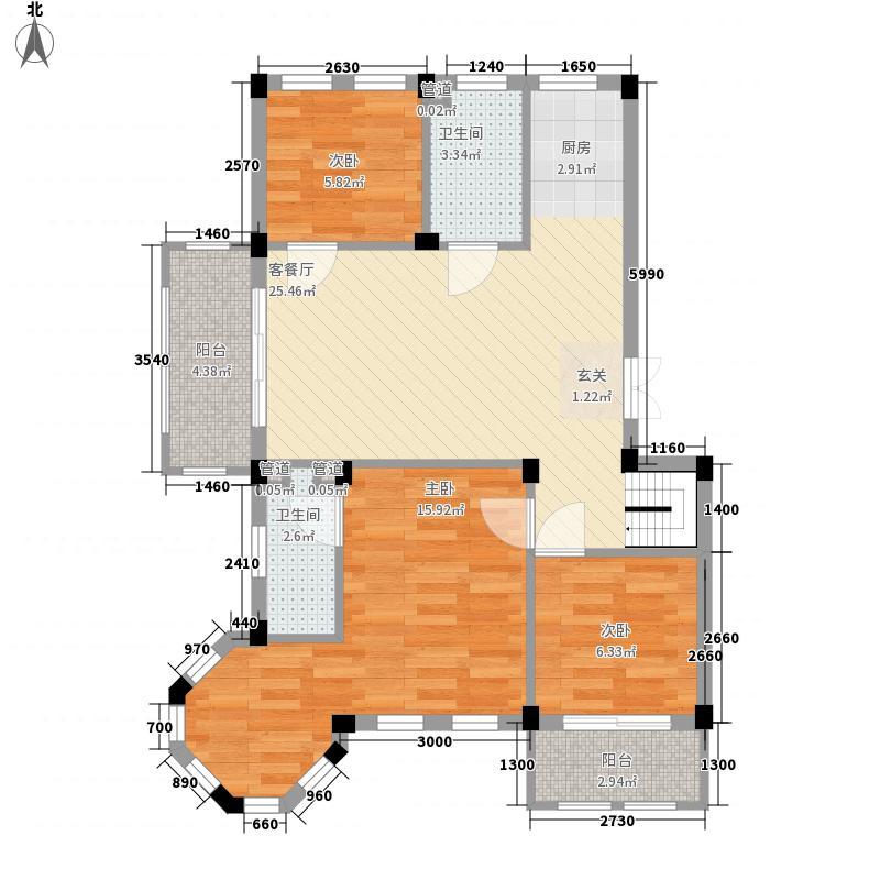 加州洋房94.16㎡加州洋房户型图C标准层3室2厅2卫1厨户型3室2厅2卫1厨