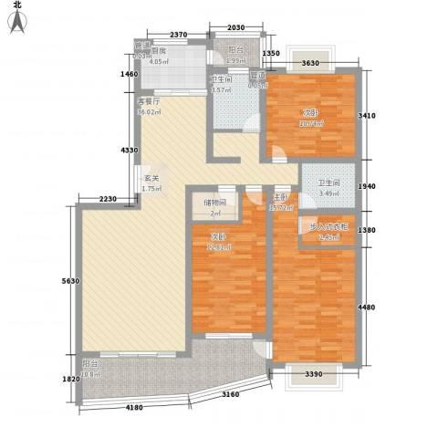 圣地亚哥3室1厅2卫1厨152.00㎡户型图