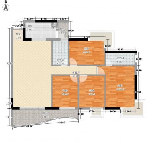 金狮华庭4室1厅2卫1厨134.00㎡户型图