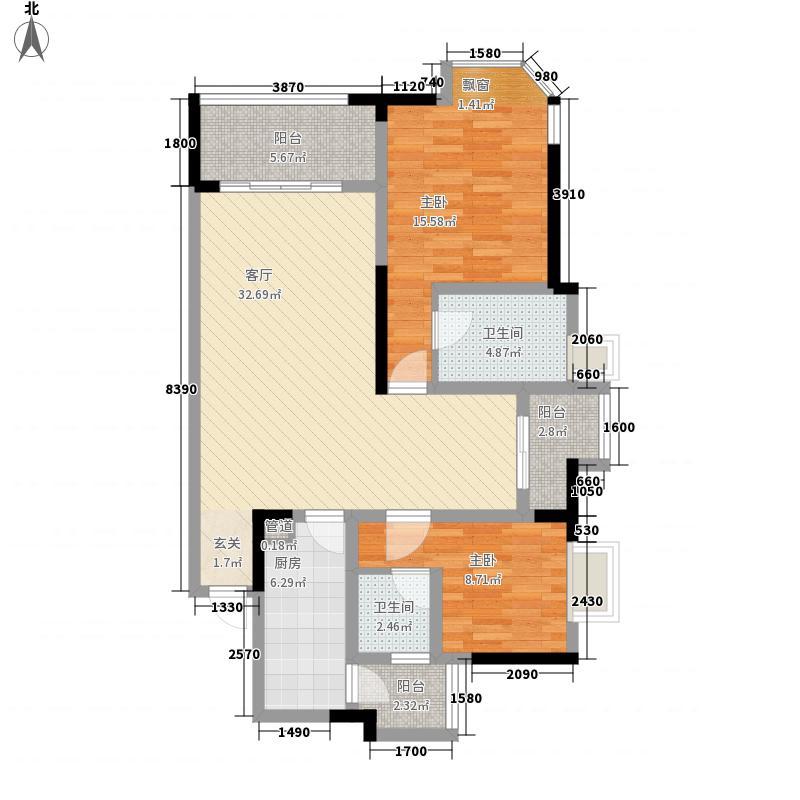 融创御锦户型3室