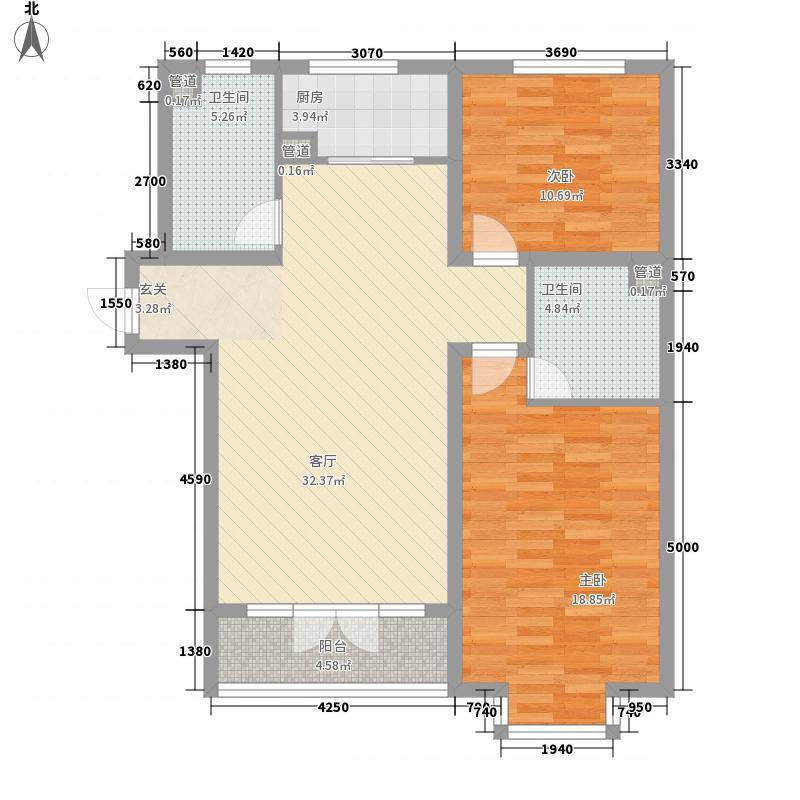 柏树花园户型2室1厅1卫1厨