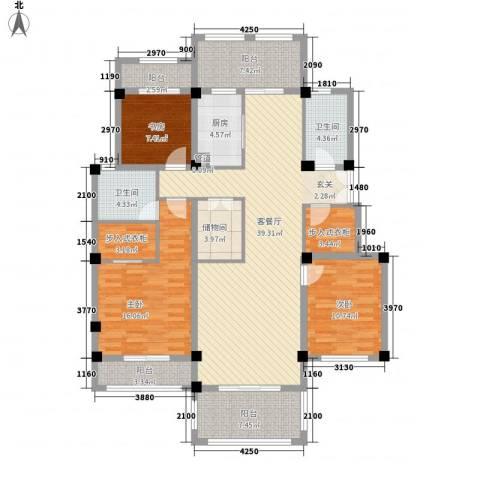 翠颐恬园3室1厅2卫1厨134.00㎡户型图