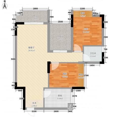 杰座2室1厅1卫1厨69.19㎡户型图
