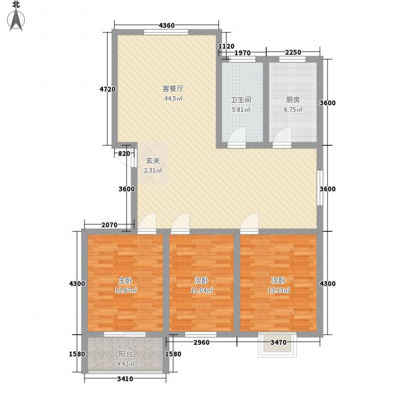 富通・香树湾富通DM-反 7 3室2厅1卫1厨 138.50㎡