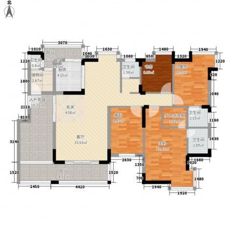怡景丽苑4室1厅4卫1厨189.00㎡户型图