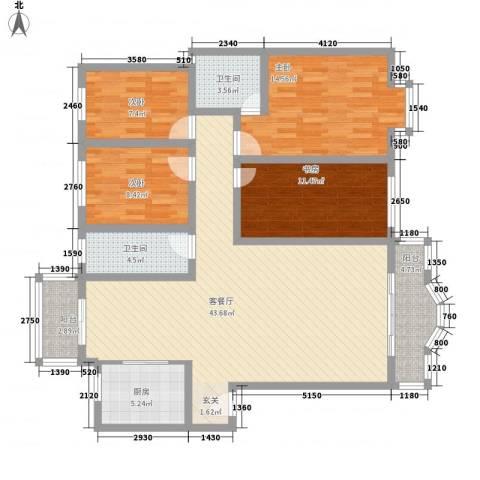 古龙居住公园4室1厅2卫1厨154.00㎡户型图