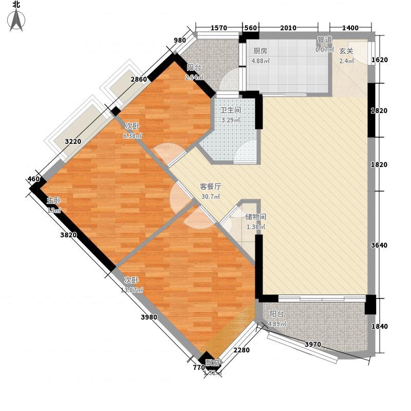 碧水湾1.45㎡第三座01单位(三-十)层平面图户型3室2厅1卫1厨